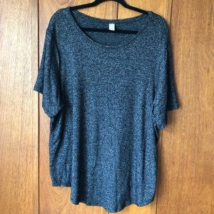 Old Navy Grey Luxe Crew Neck Tunic Top
